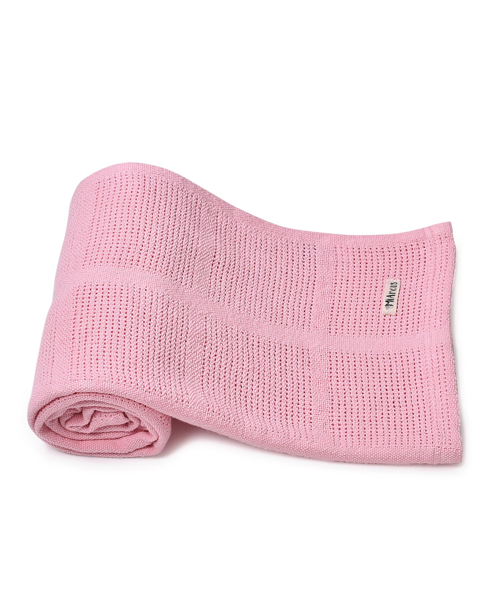 Mothercare | Mi Arcus Premium Organic Cotton Pixie Leno Blanket Pink