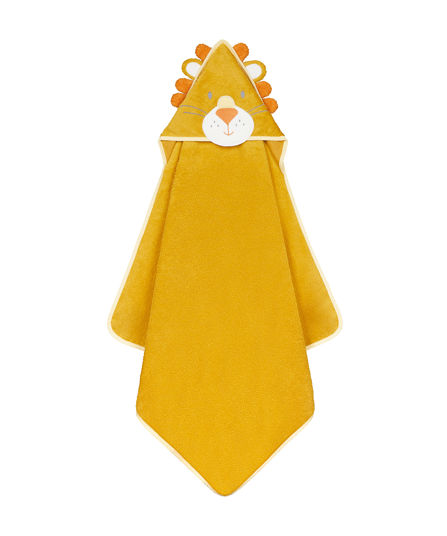 Mothercare   Mothercare Character Cuddle and Dry Baby Towels Lion Yellow