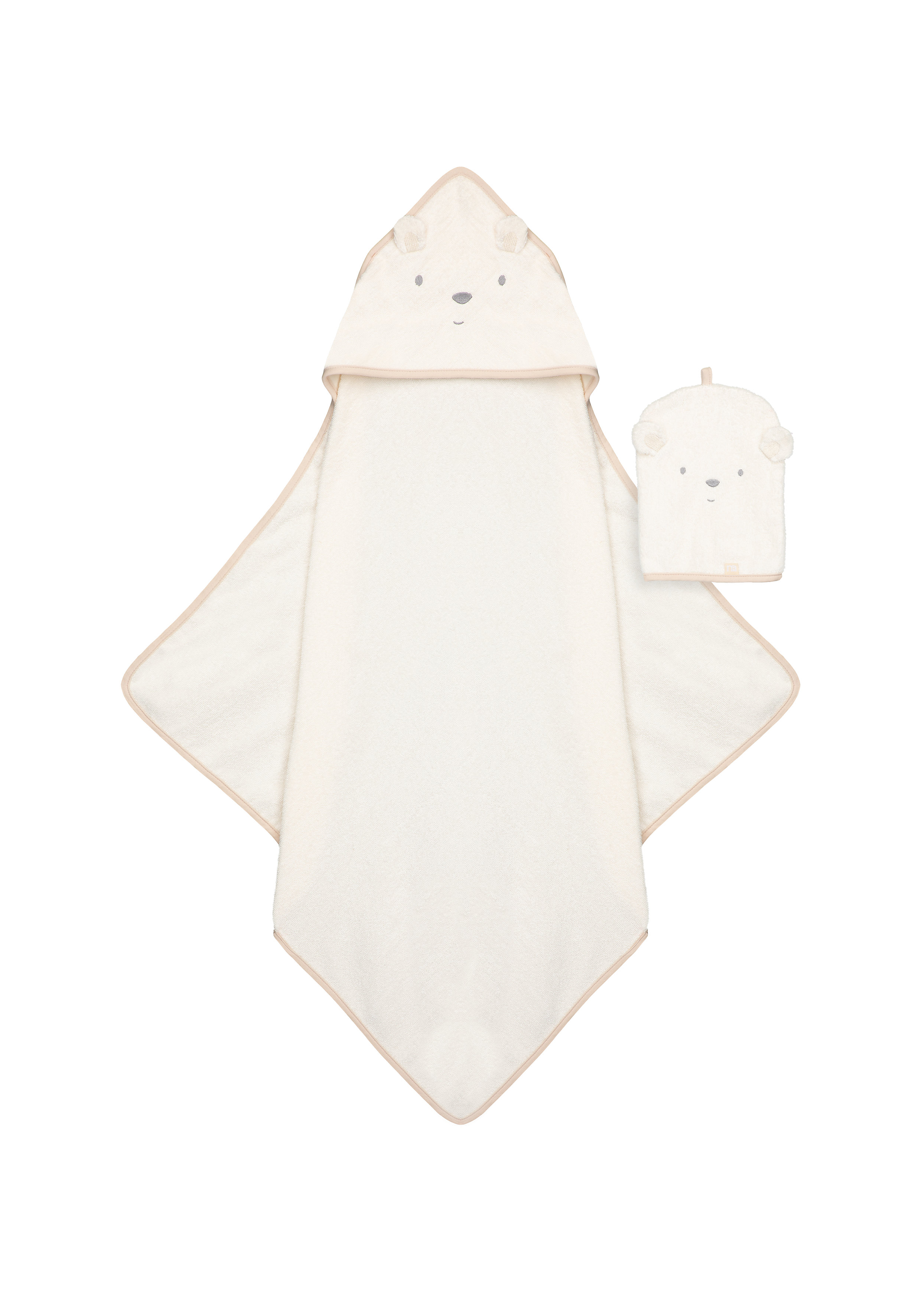 Mothercare   Mothercare Little And Loved Cuddel and Dry Baby Towels Mitt Off White