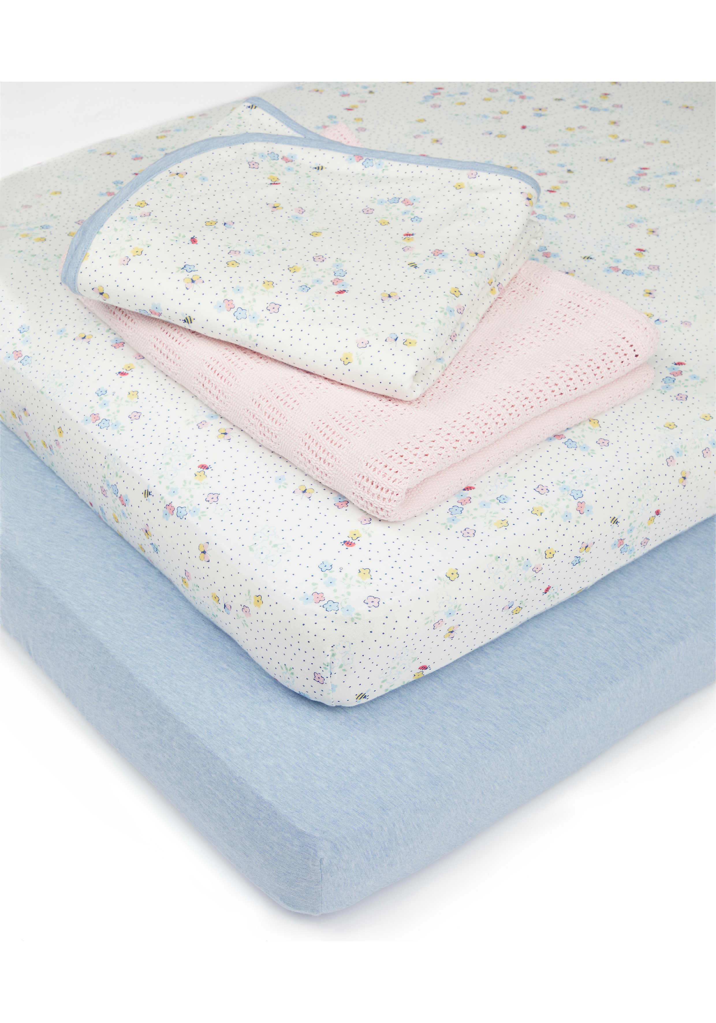Mothercare   Mothercare Spring Cotbed Starter Set Multi
