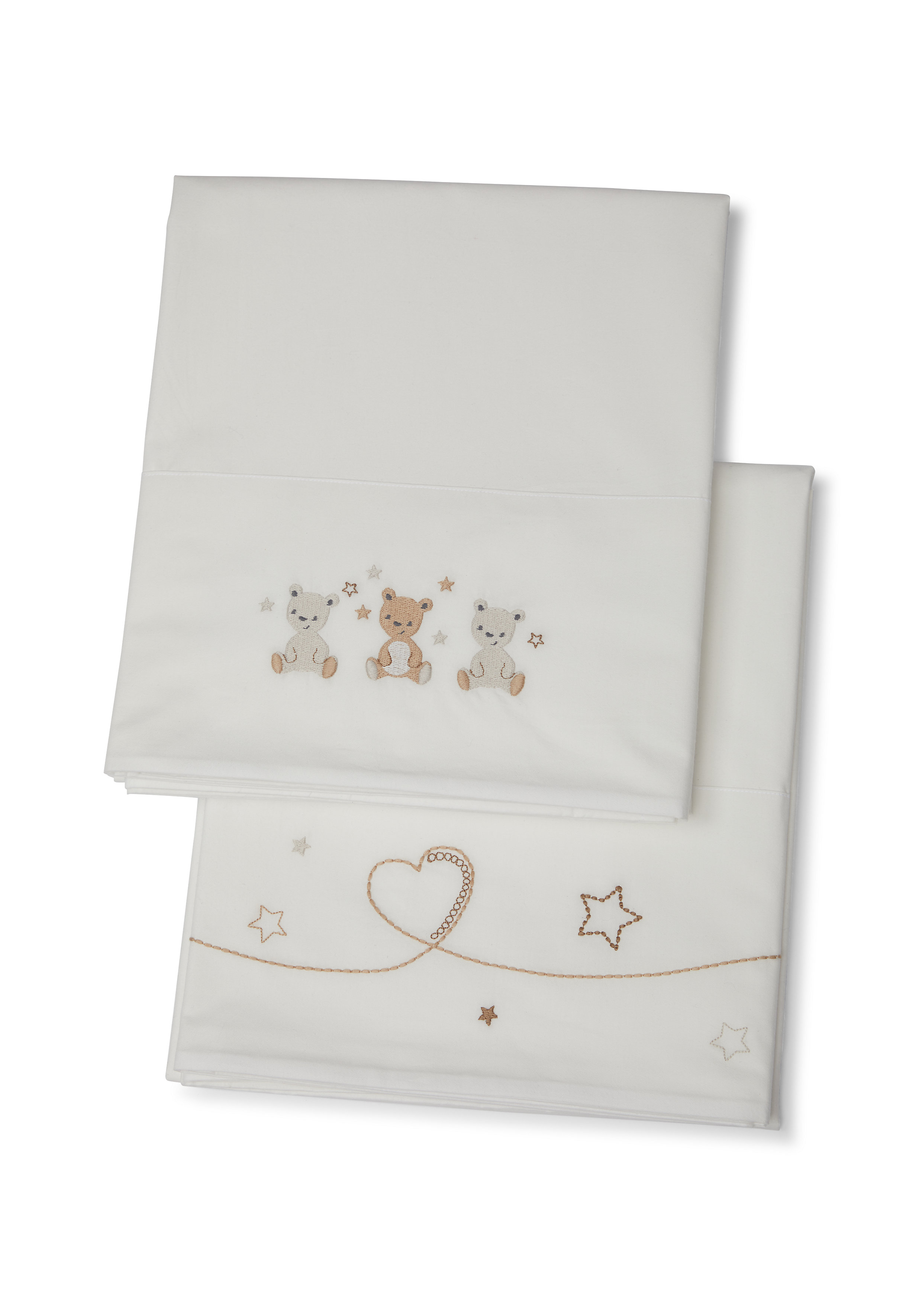 Mothercare   Mothercare Little&Loved 2 pack Flat Sheets White