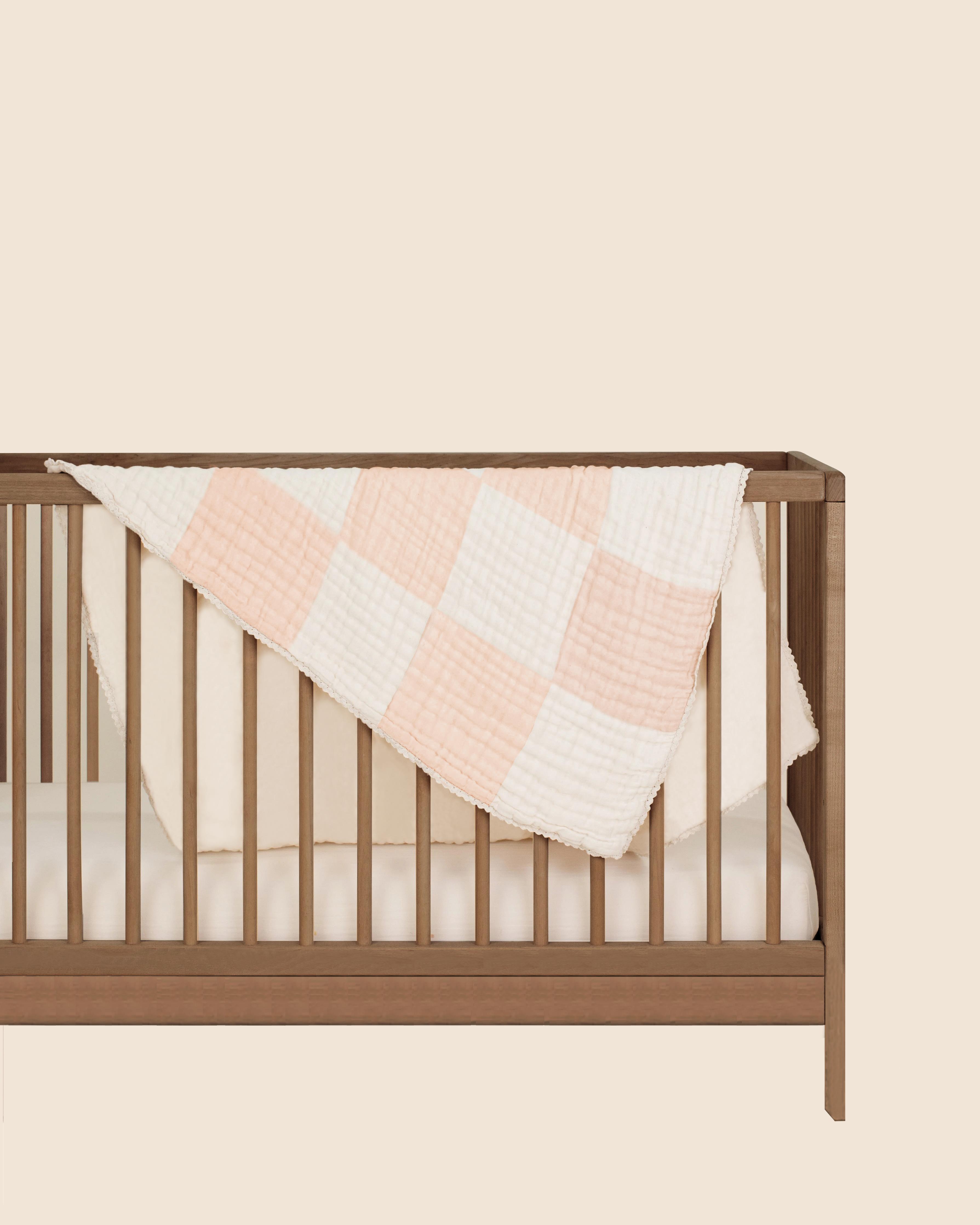 Mothercare | Abracadabra Organic 4 Layer Patchwork Muslin Blanket - Pink