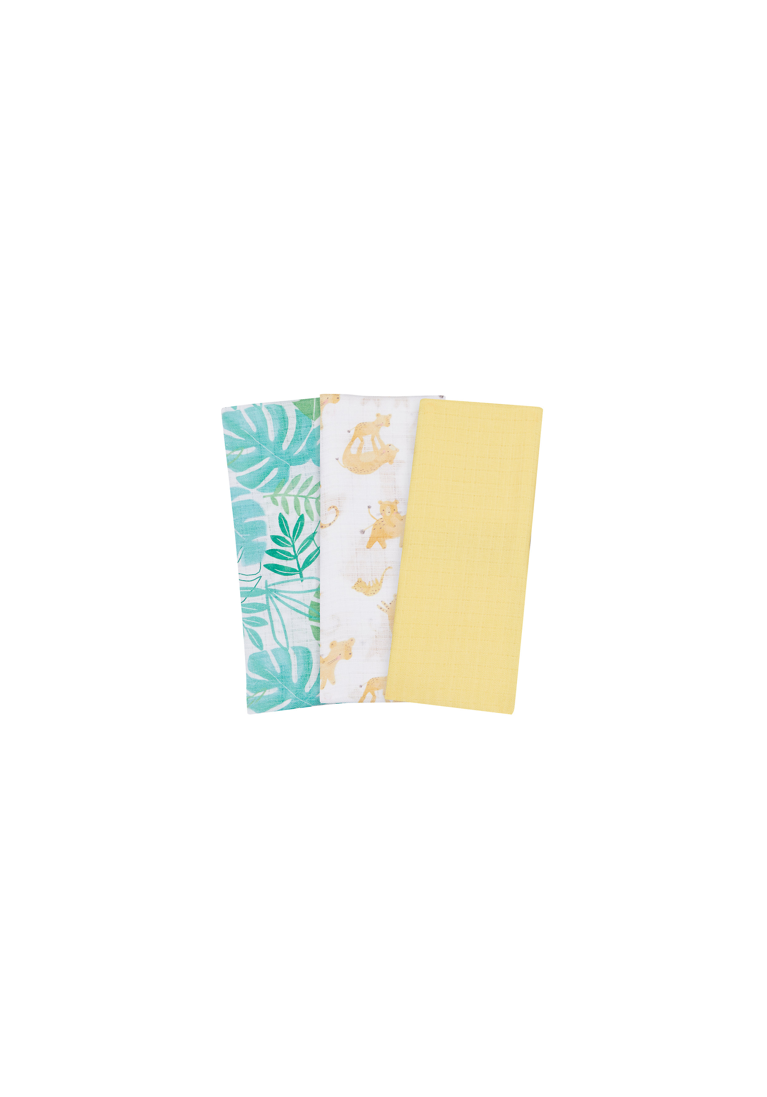 Mothercare | Mothercare Sleepy Safari Pack of 3 Muslins Multicolor
