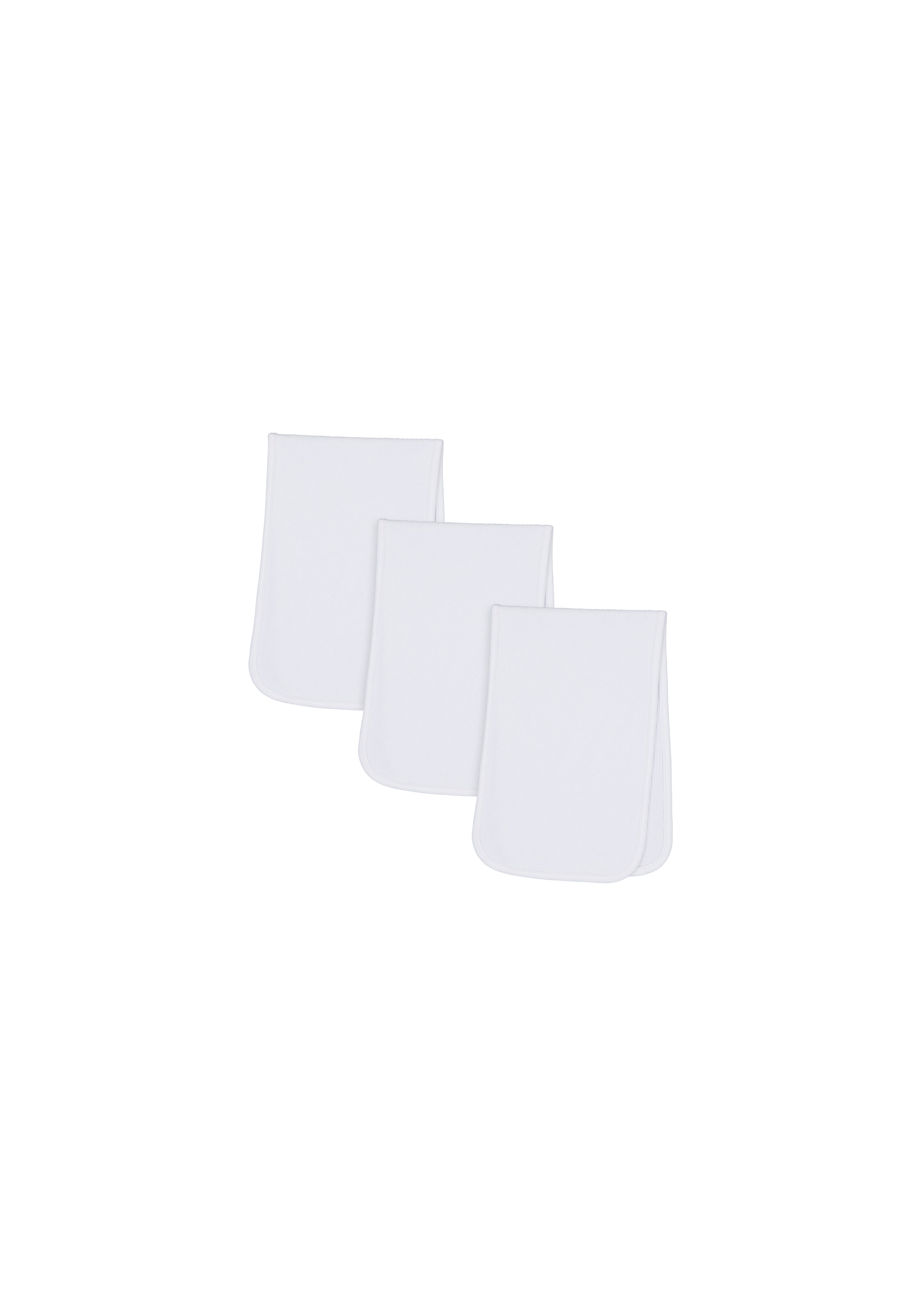 Mothercare   Mothercare Reversible Pack of 3 Burp Cloths White