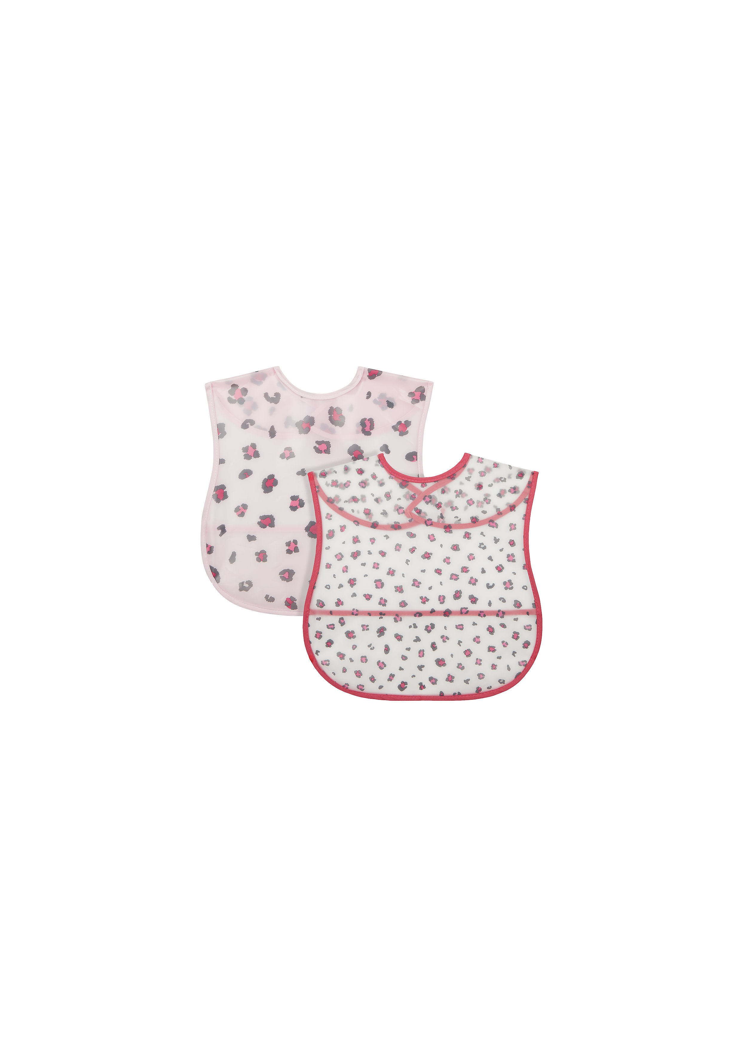 Mothercare | Mothercare Toddler Leopard Pack of 2 Crumb Catchers Pink