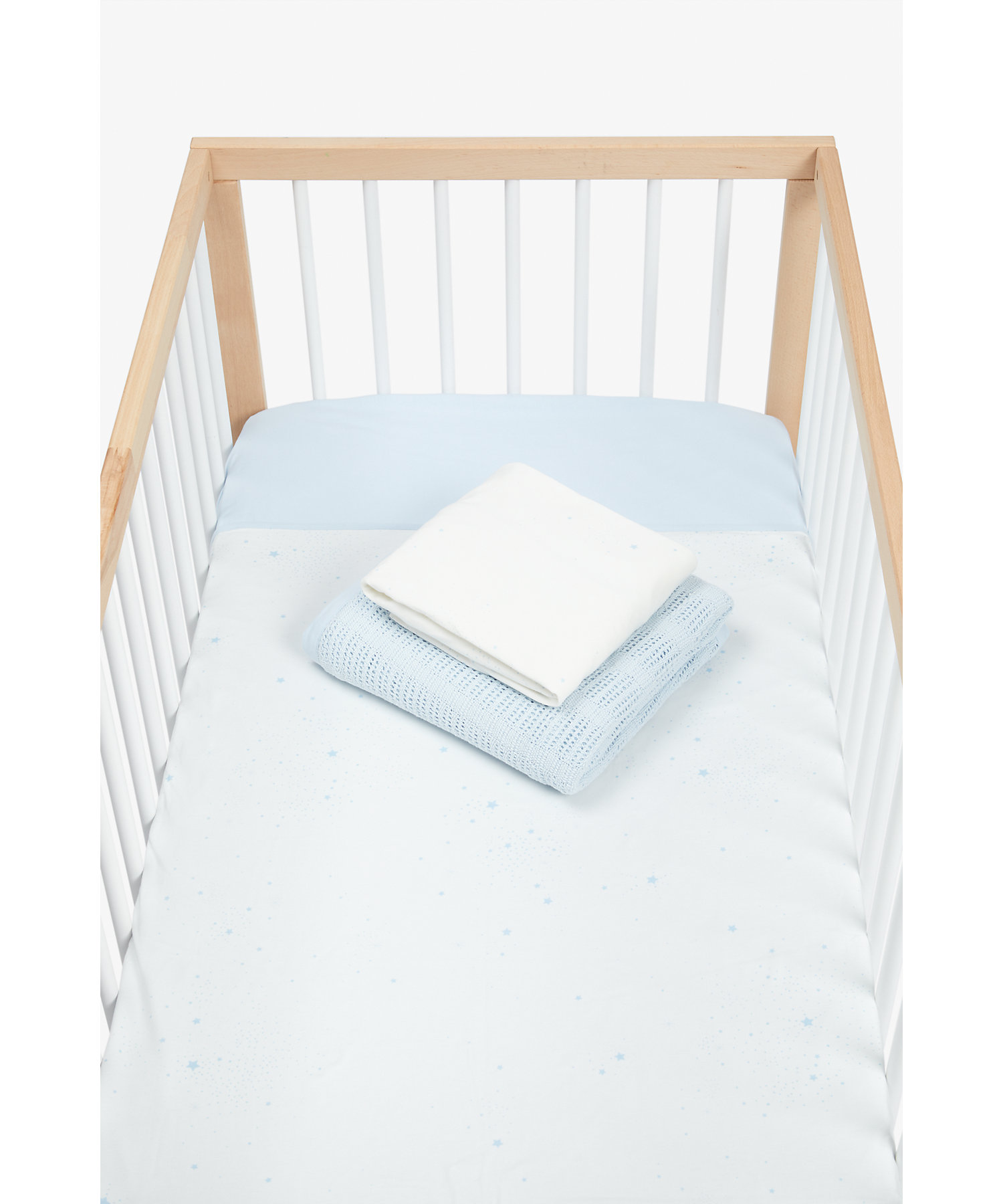 Mothercare | Mothercare Essentials Cotbed Starter Set Blue