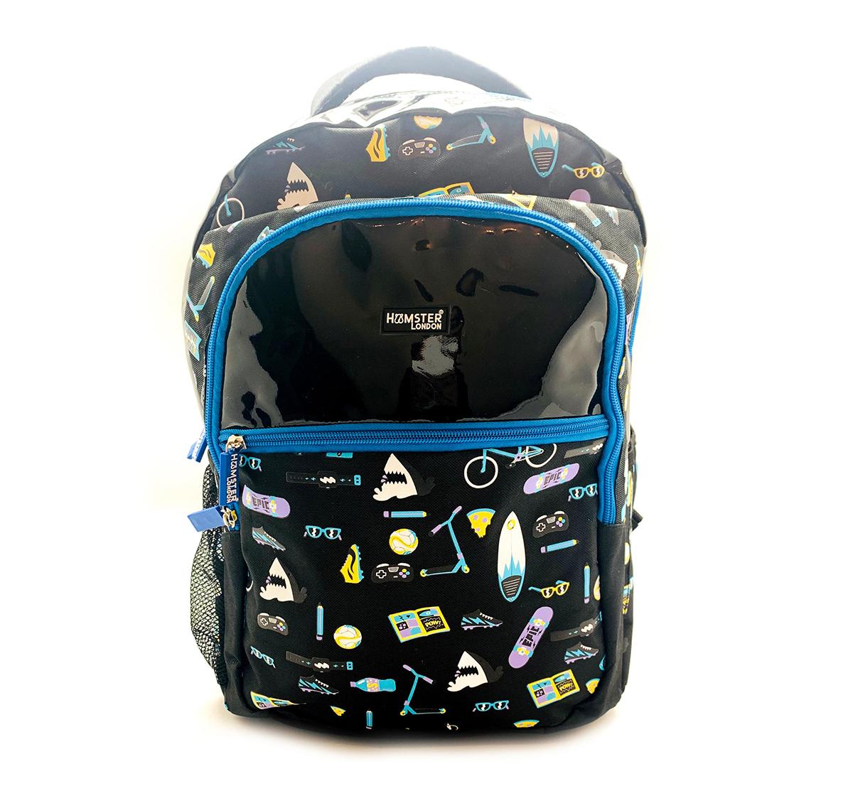 Hamster London | Hamster London Beach Theme Big Backpack for Boys age 3Y+ (Black)