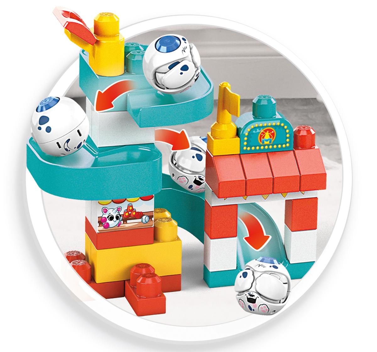Mega Bloks   Mega Bloks Peek A Blocks Chase 'N Slide Playhouse, Unisex, 1Y+ (Multicolor)