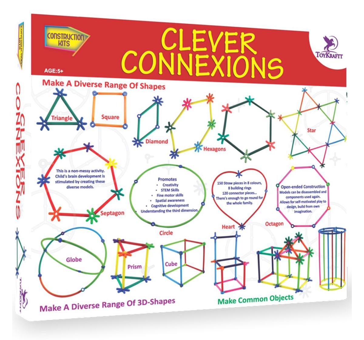 Toy Kraft   Toy Kraft Clever Connexions, Multicolor, 5Y+