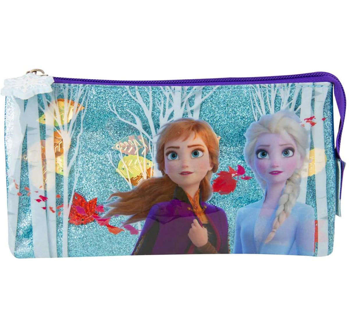 Disney | Disney Frozen2 Confetti Pencil Case With Pom Pom Bags for Girls age 3Y+