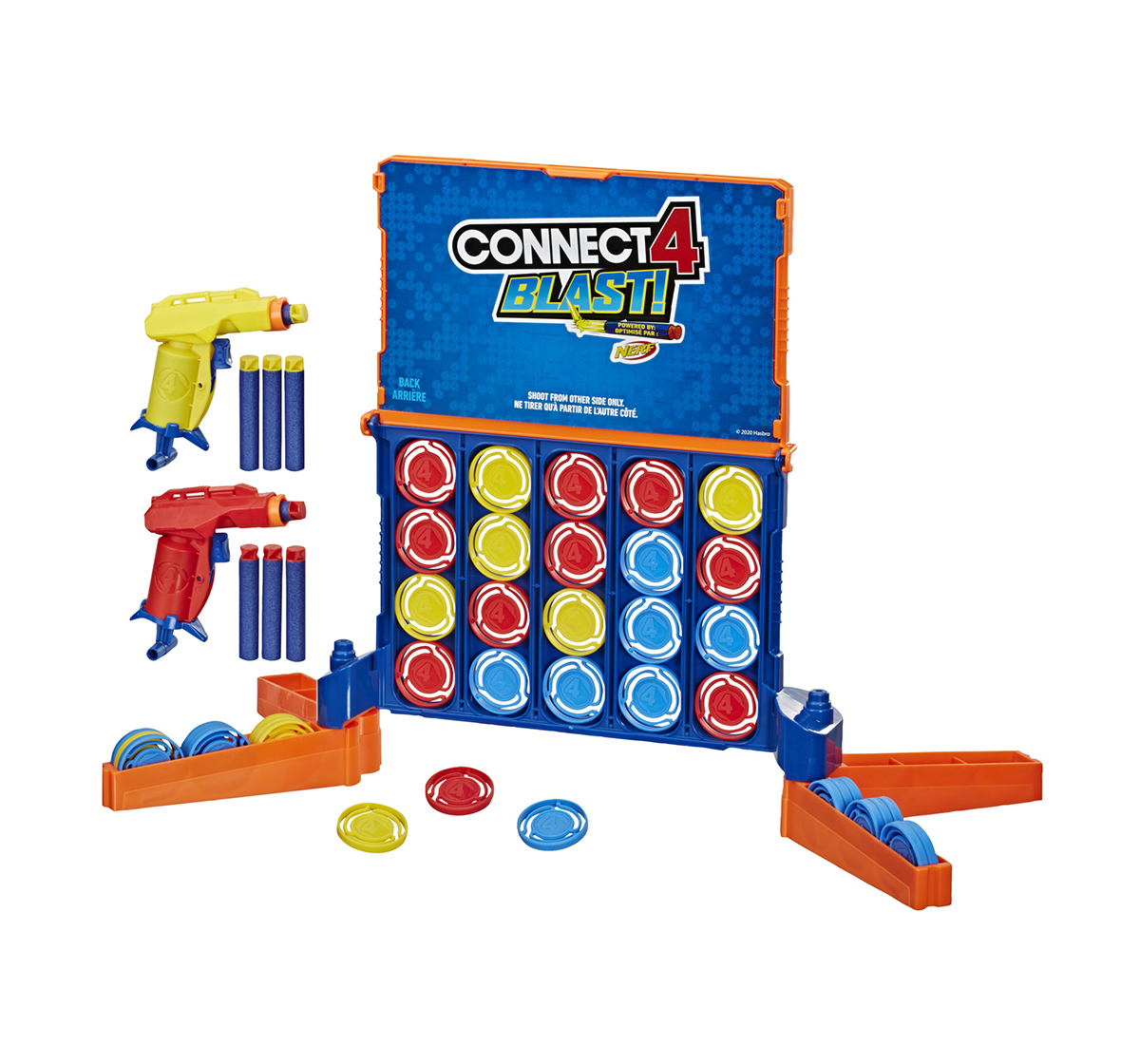 Hasbro Gaming | Hasbro Connect 4 Blast! Game With Nerf Blasters Games for Kids age 8Y+