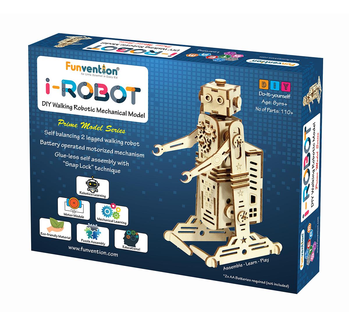 Funvention | Funvention I-Robot - Diy Walking Robotic Model (Prime Series) Stem for Kids Age 8Y+