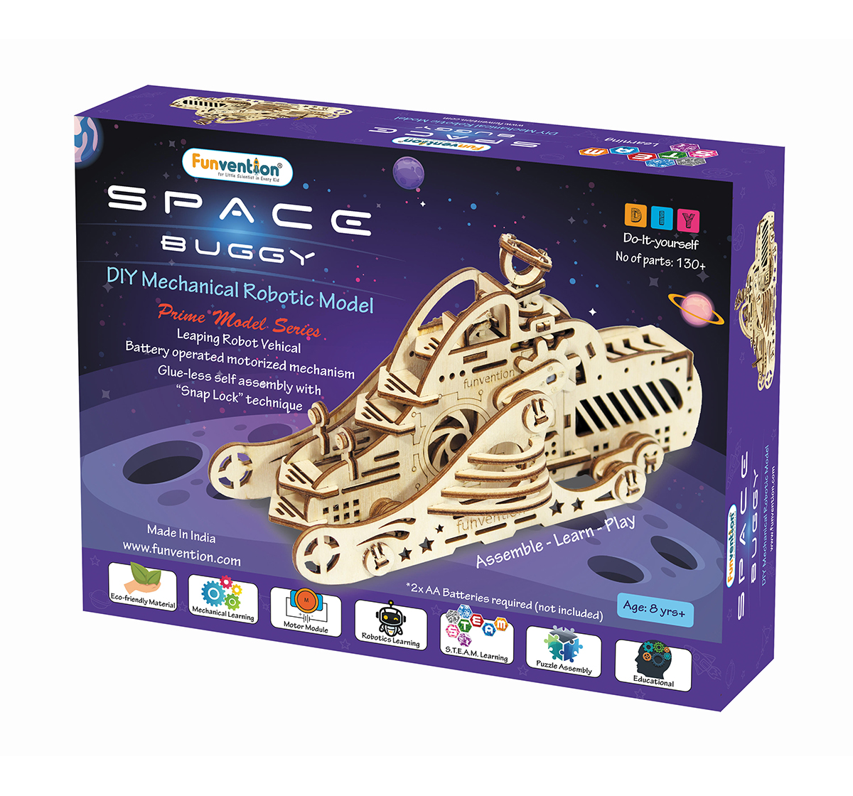 Funvention | Funvention Space Buggy - Diy Walking Robotic Model (Prime Series) Stem for Kids Age 8Y+