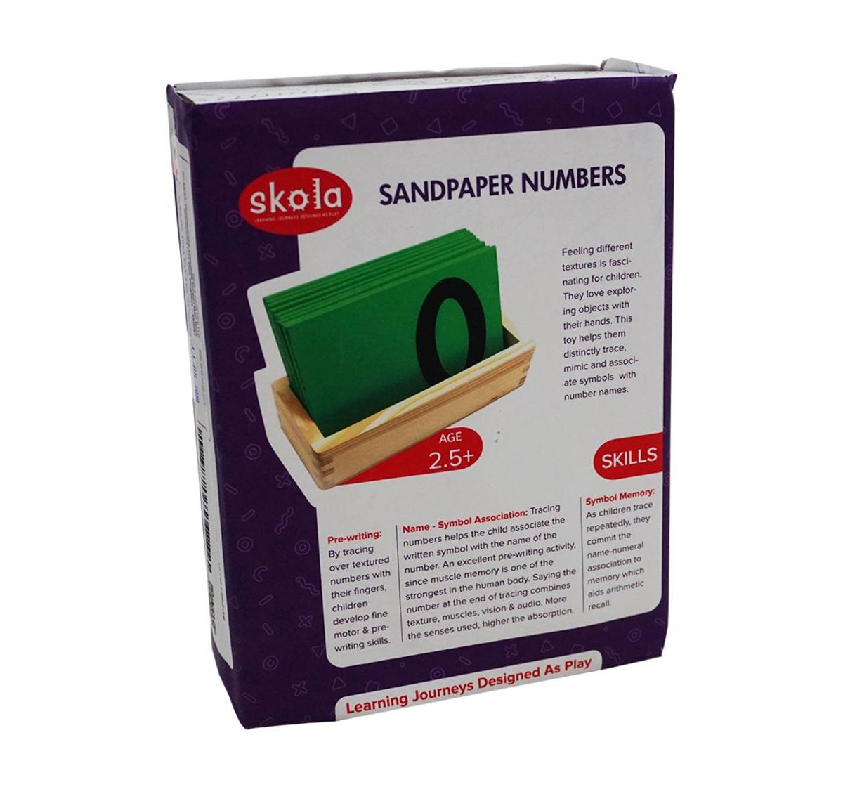 Skola Toys | Skola Toys Sandpaper Tracing Numbers Wooden for Kids age 2Y+