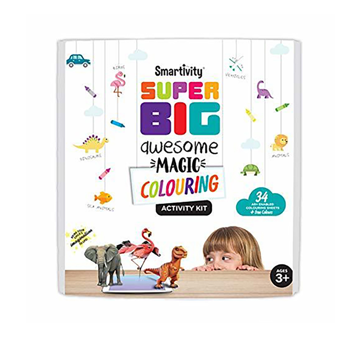 Smartivity   Smartivity Superbig awesome colouring magic STEM for Kids age 3Y+