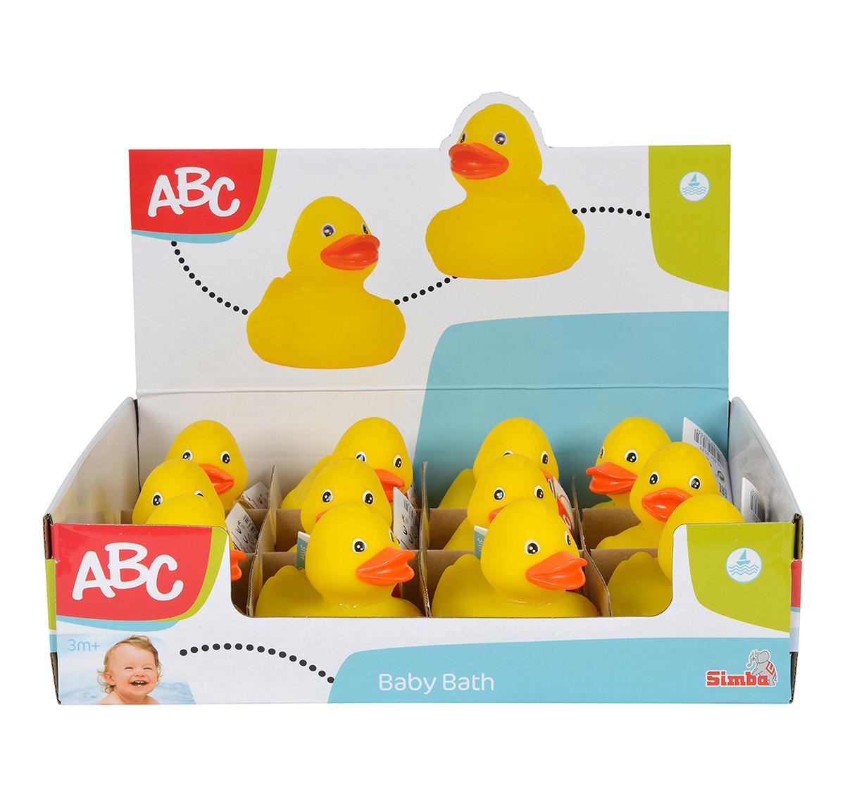 Simba | Simba Abc Rubber Ducks In Display Assorted, Unisex, 0M+ (Yellow)