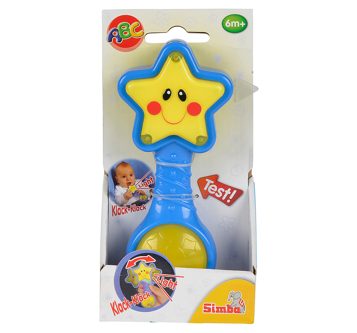 Simba | Simba Abc Star Rattle With Light, Unisex, 0M+ (Blue)
