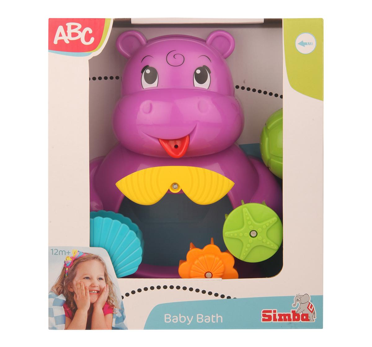 Simba | Simba Abc Bath Hippo, Unisex, 12M+ (Pink)