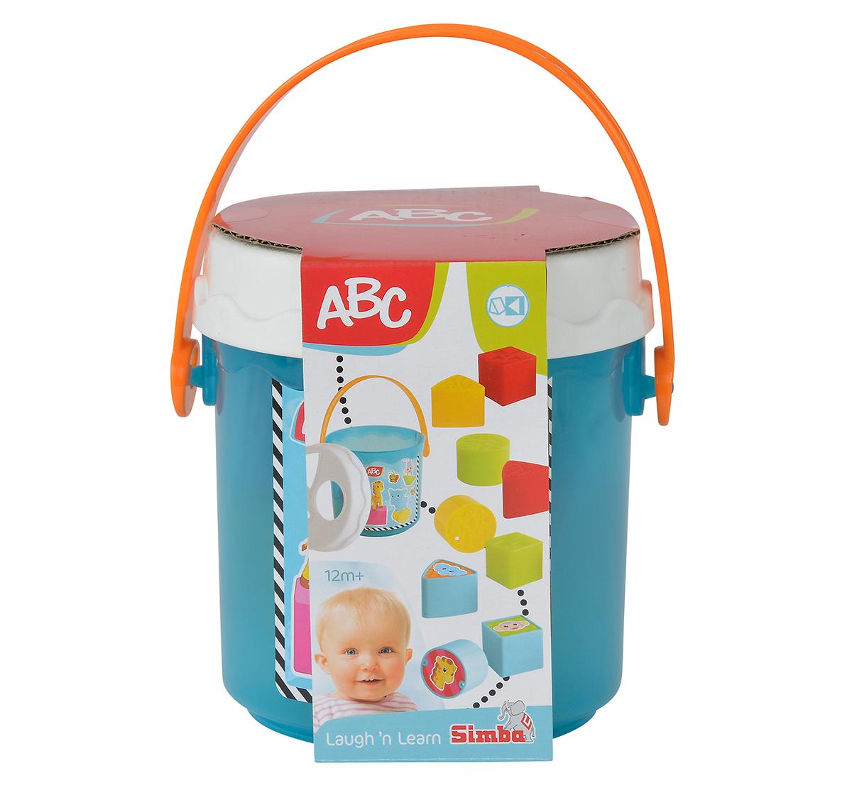 Simba | Simba Abc Colorful Sorting Bucket, Unisex, 12M+ (Blue)
