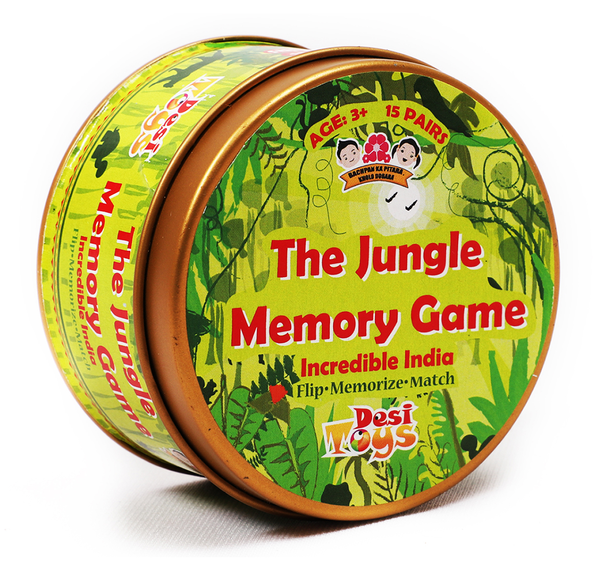 Desi Toys | Desi Toys Jungle Memory Card Game for Kids age 3Y+ - 1.27 Cm (Green)