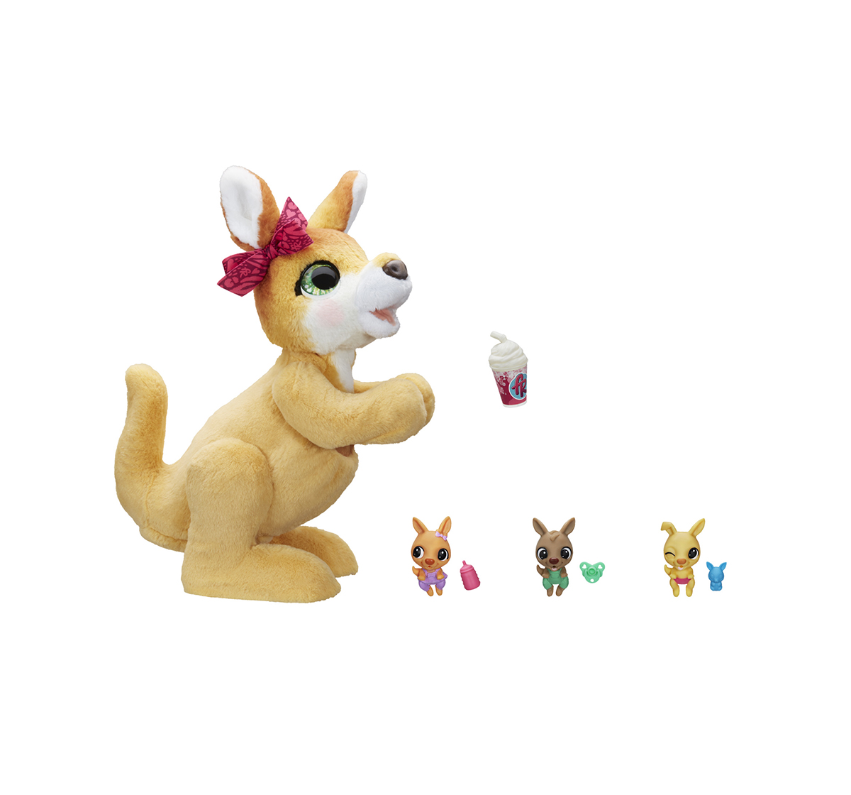 Furreal Friends | Furreal Friends Mama Josie the Kangaroo Interactive Pet Toy, 70+ Sounds & Reactions, Ages 4 & Up Interactive Soft Toys for GIRLS age 4Y+ - 38.1 Cm