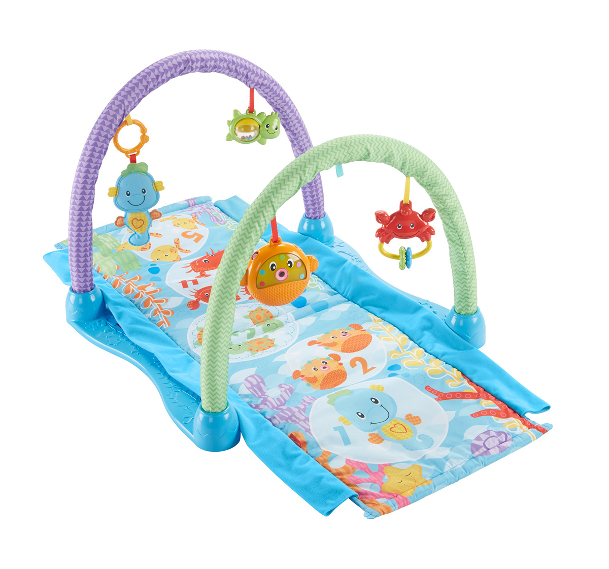 Fisher-Price | Fisher price Kick And Crawl Musical Seahorse Gym Baby Gear for Kids age 0M+