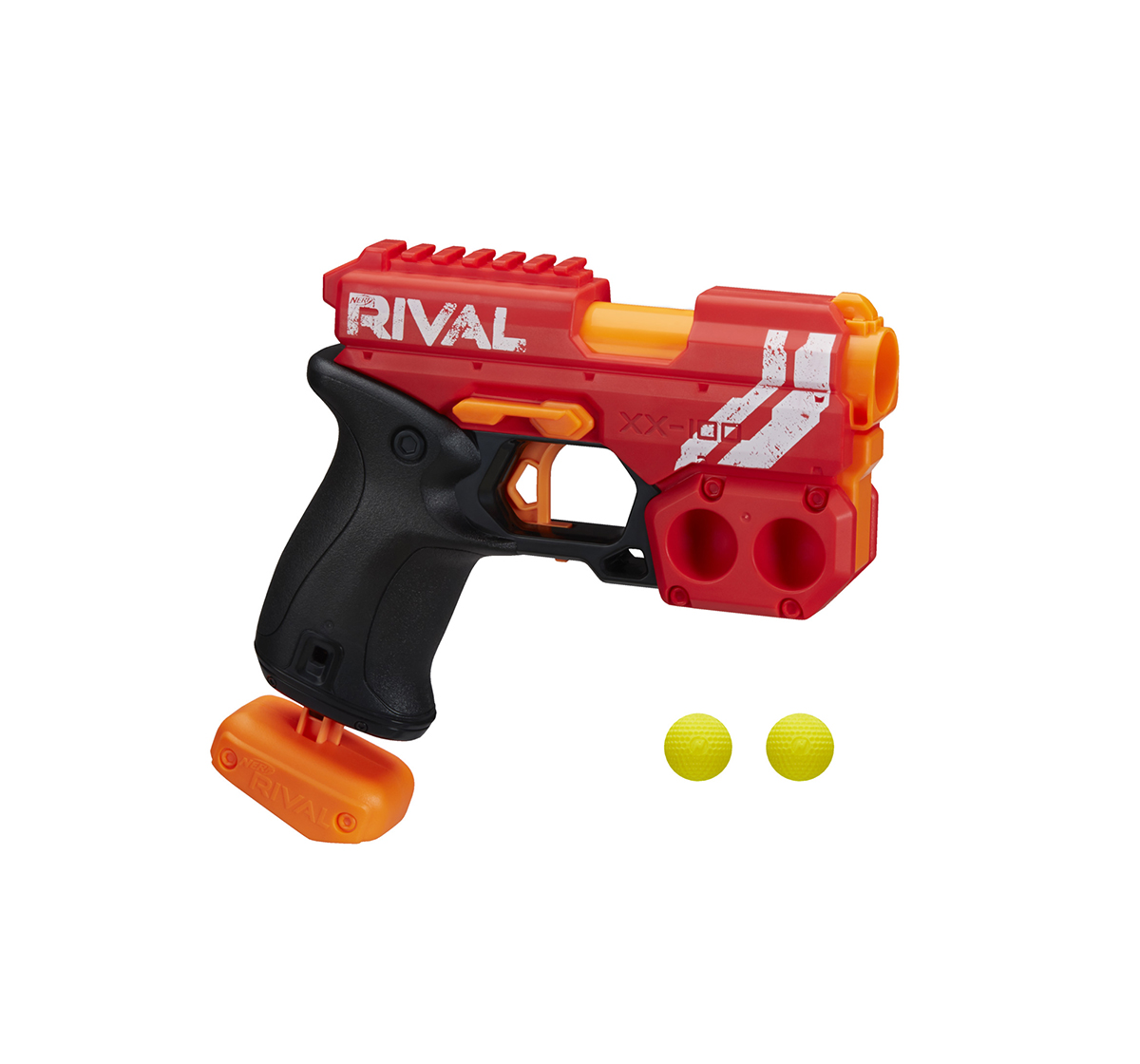Nerf | Nerf Rival Knockout XX-100 Blaster Toy Gun Assorted -- Round Storage, 90 FPS Velocity, Breech Load  -- Includes 2 Official Nerf Rival Rounds -- Team Red Blasters for Kids age 14Y+