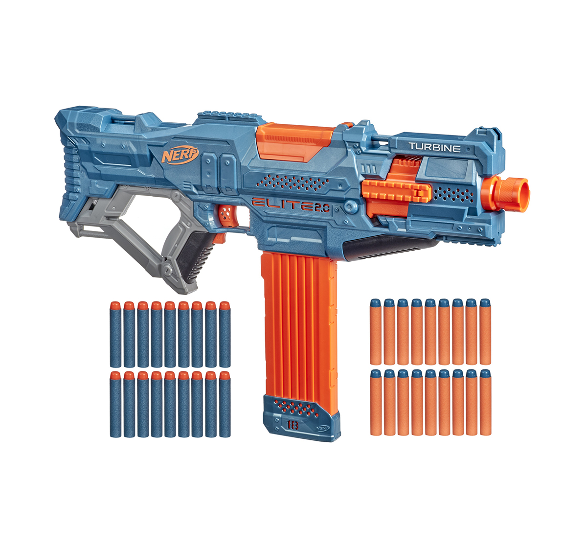 Nerf | Nerf Mega Motostryke Motorized 10-Dart Blaster --  Includes 10 Official Nerf Mega Darts and 10-Dart Clip -- For Kids, Teens, Adults Blasters for BOYS age 8Y+
