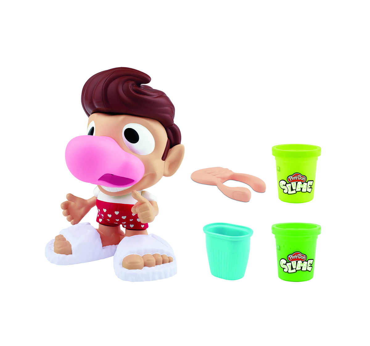 Play-Doh   Play-Doh Slime Snotty Scotty Playset with 2 Cans of Slime Snot  Clay & Dough for Kids age 3Y+