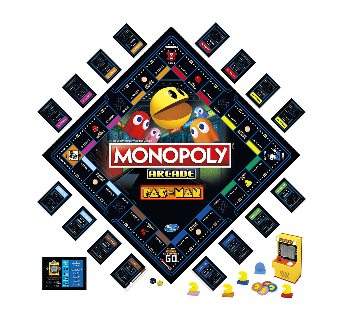 Hasbro Gaming | Hasbro Gaming Monopoly Arcade Pac-Man Game; Monopoly Board Game for Kids Ages 8 and Up; Includes Banking and Arcade Unit