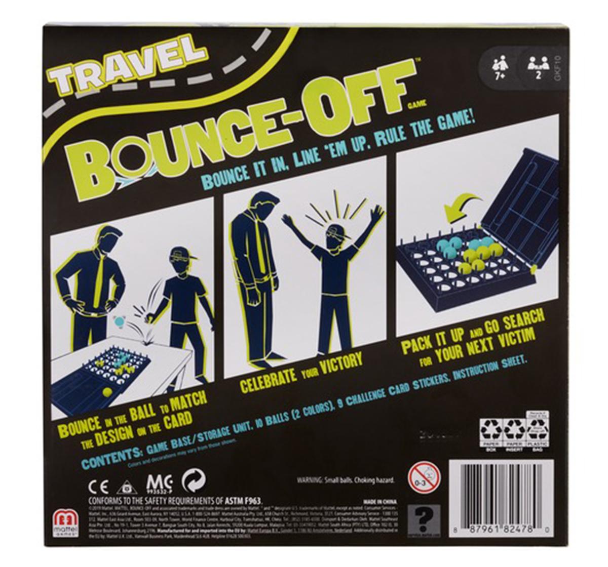 Mattel | Mattel Games Travel Bounce Off, Unisex, 6Y+ (Multicolor)