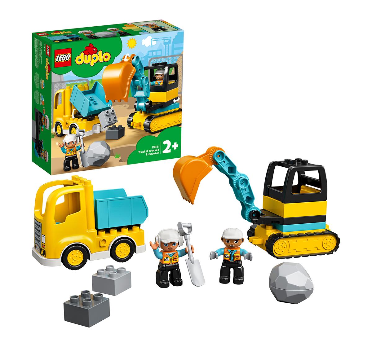 LEGO | LEGO 10931 Truck & Tracked Excavator Lego Blocks for Kids age 2Y+