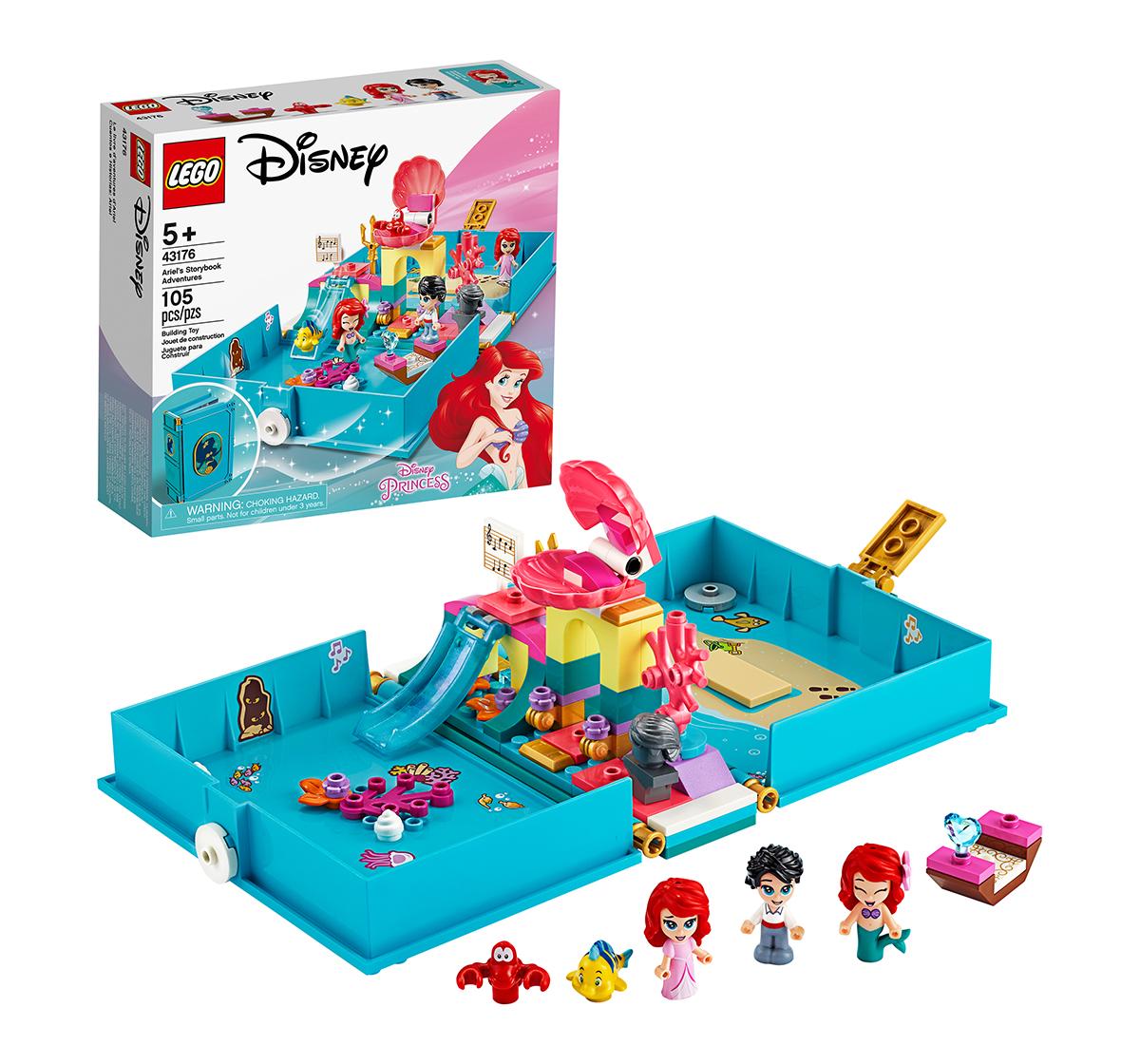 LEGO | LEGO 43176 Ariel's Storybook Adventures Lego Blocks for Girls age 5Y+