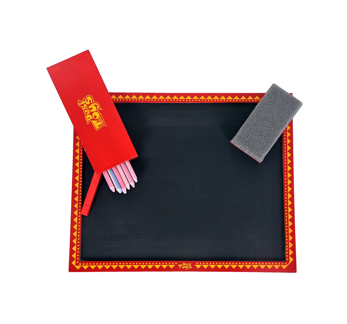 Desi Toys | Desi Toys Wooden Slate for Kids age 3Y+ - 1.2 Cm (Red)