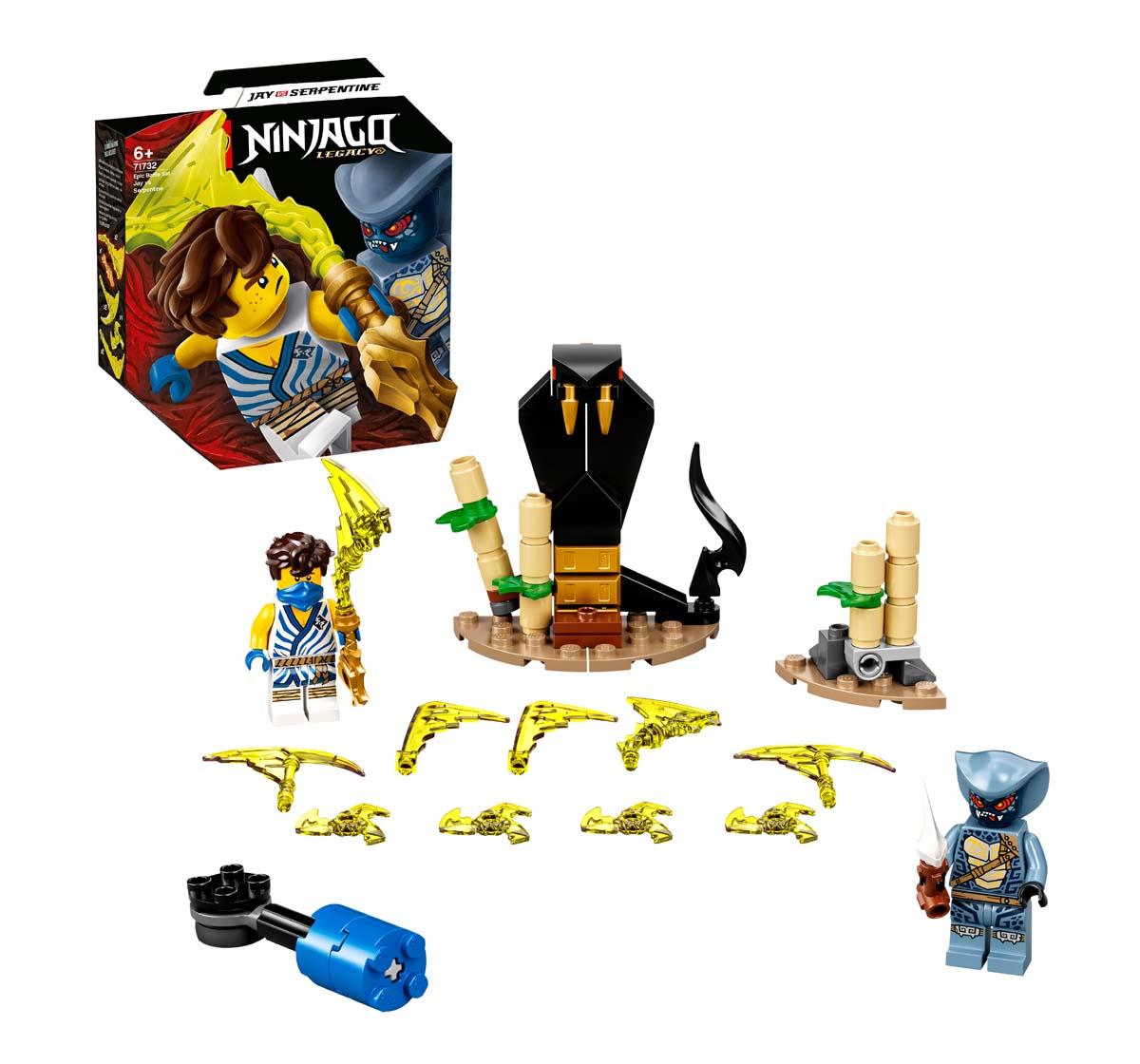 LEGO   Lego Epic Battle Set - Jay Vs. Serpentine Lego Blocks for Kids Age 6Y+