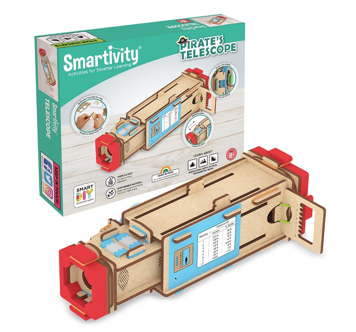 Smartivity | Smartivity Pirate's Telescope STEM STEAM Educational DIY Building Construction Activity Toy Game Kit