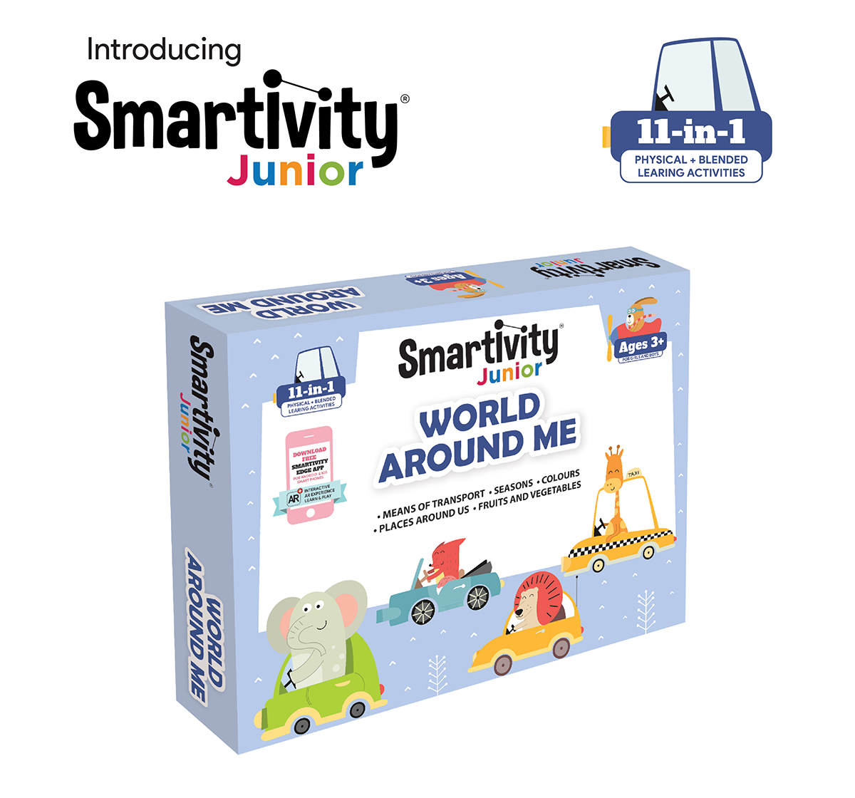 Smartivity   Smartivity Junior World Around Me Pre-School STEAM Learning Educational Toy Art & Craft Play 11 in 1 Activity Kit