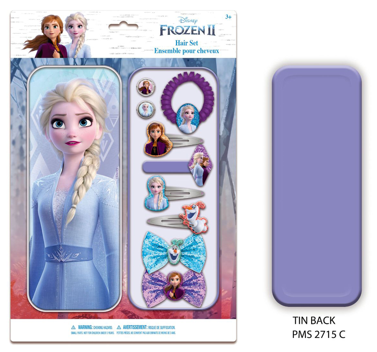 Townley Girl   NE Disney Frozen Hair Accessories in Tin for Girls age 5Y+