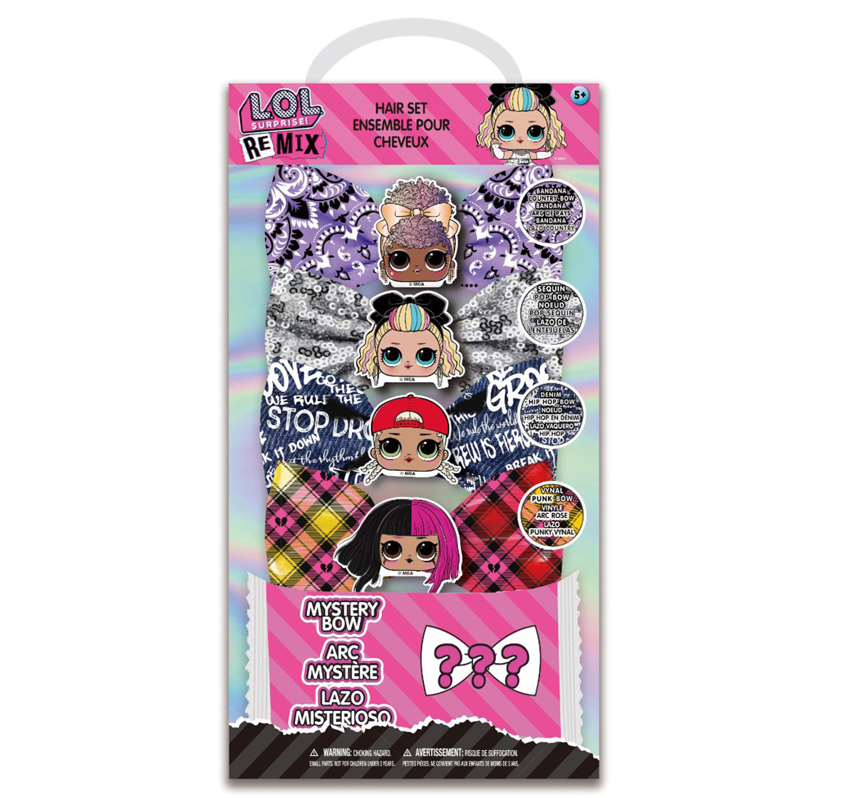 Townley Girl | NE LOL Hair Accessories with Hair Bow for Girls age 5Y+