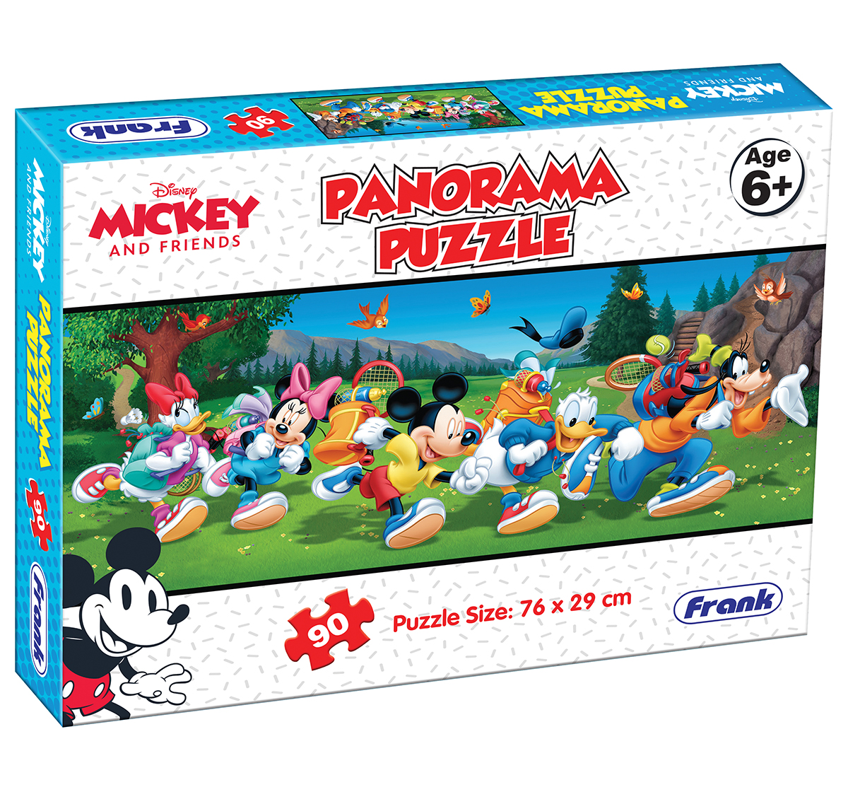 Disney | Disney Frank Mickey Mouse Panorama Puzzle (90pcs), 6Y+