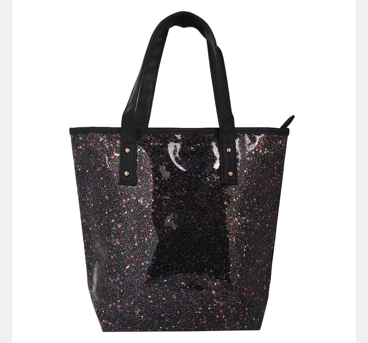 Hamster London | Hamster London Glitter Tote Bag Black, 6Y+