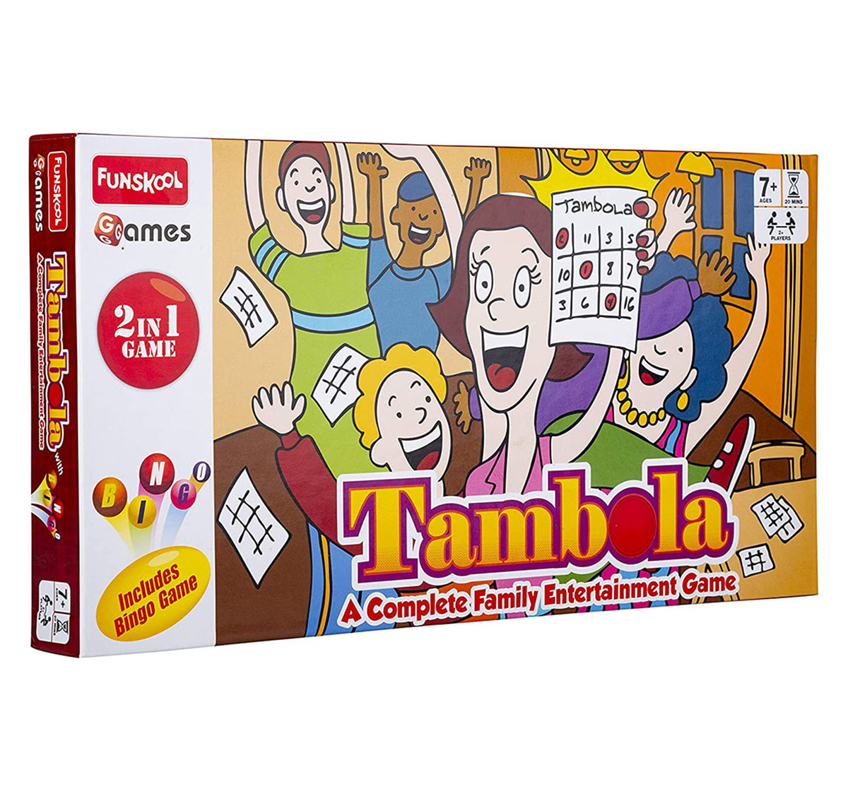 Funskool   Funskool  Tambola 2 In 1 Game, 4Y+ (Multicolor)