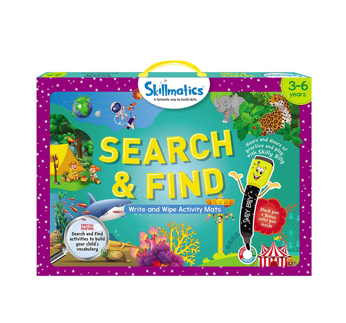 Skillmatics | Skillmatics Search & Find Write & Wipe Activity Mats, Multicolor, 3Y+