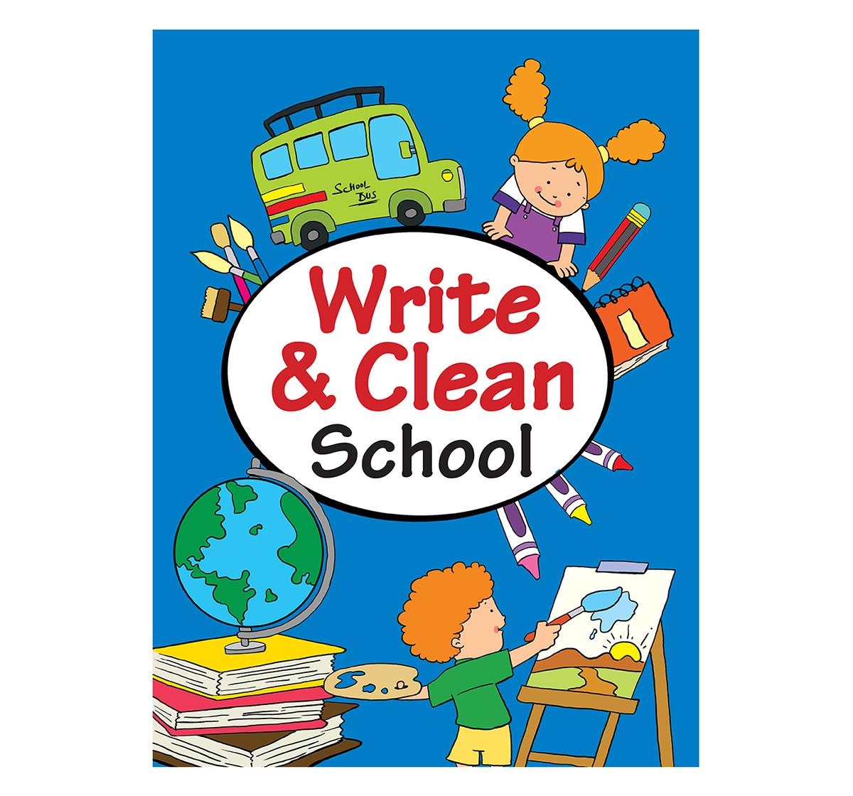 Om Kidz | Om Kidz: Write & Clean School, 16 Pages Book, Paperback