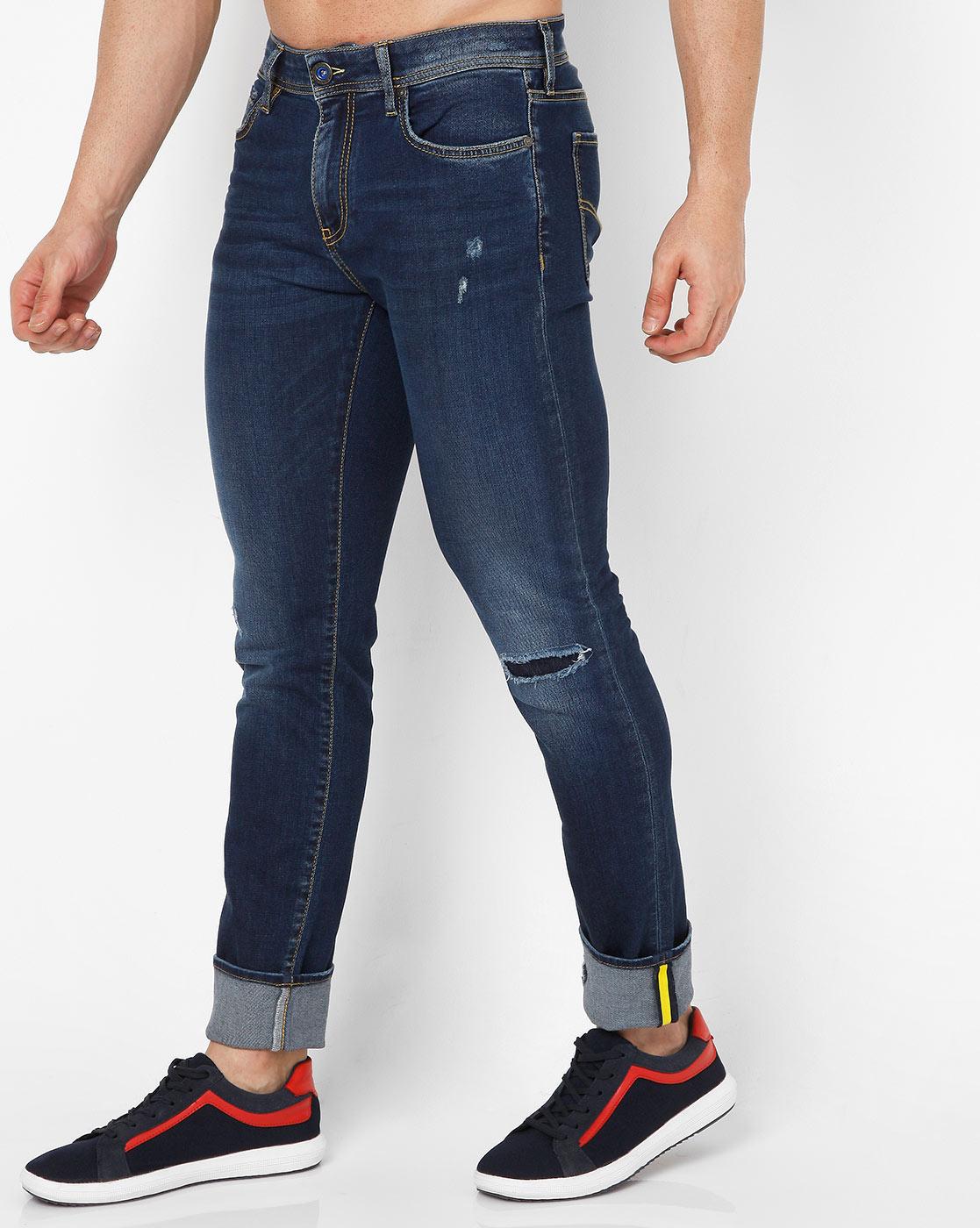 GAS | Men's Sax Zip Skinny Fit Blue Jeans