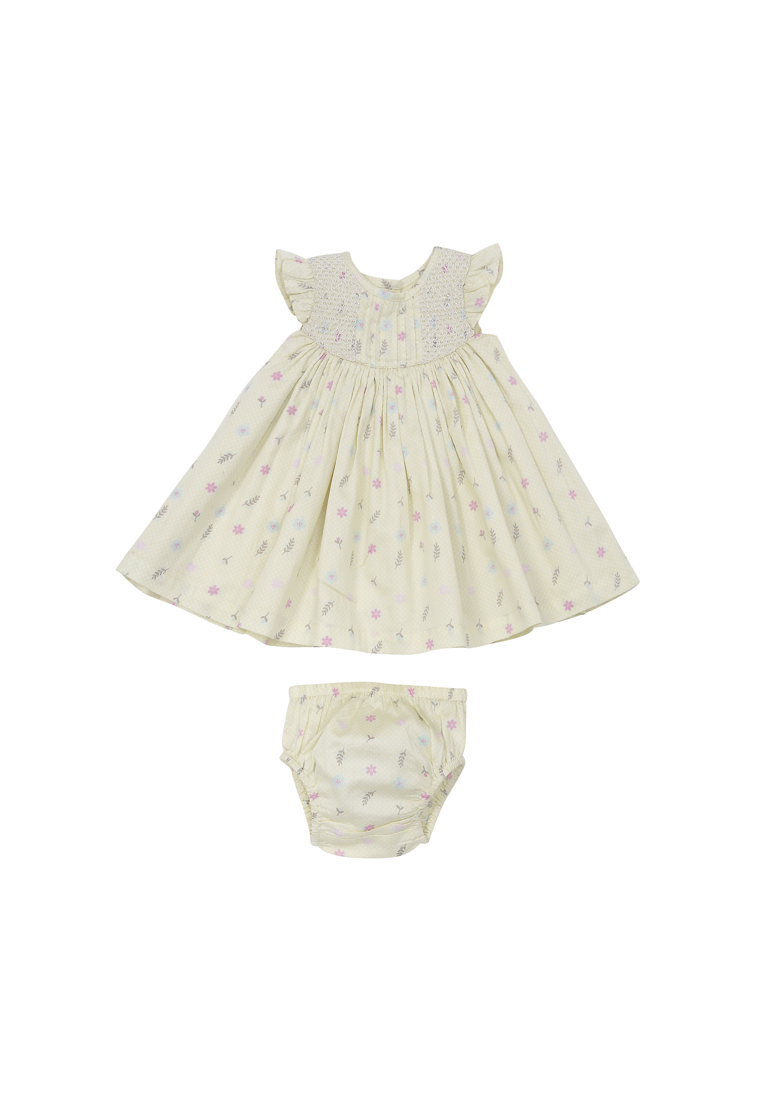 Mothercare | Girls Floral Dress - Lime