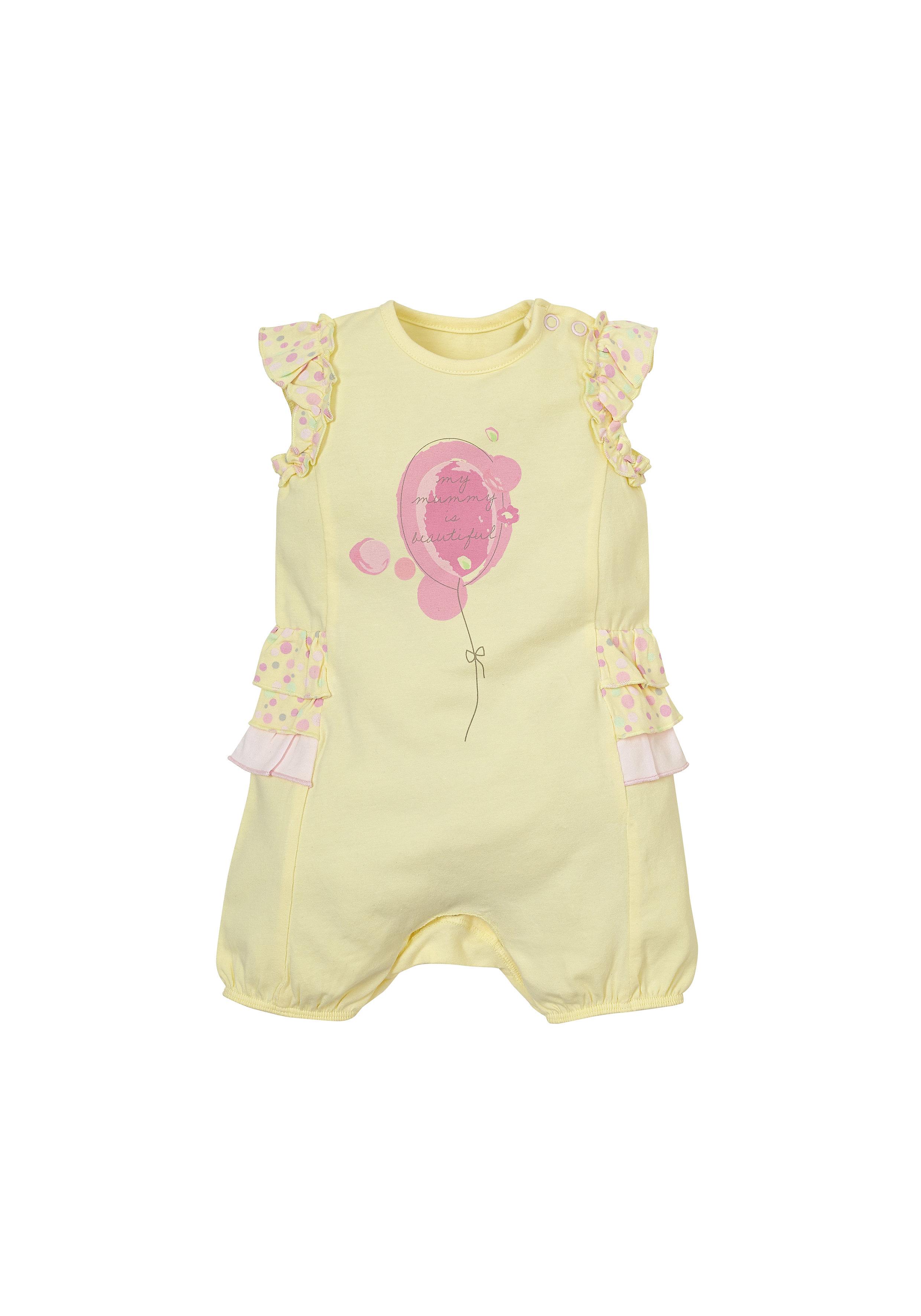 Mothercare | Girls Jersey Balloon Romper