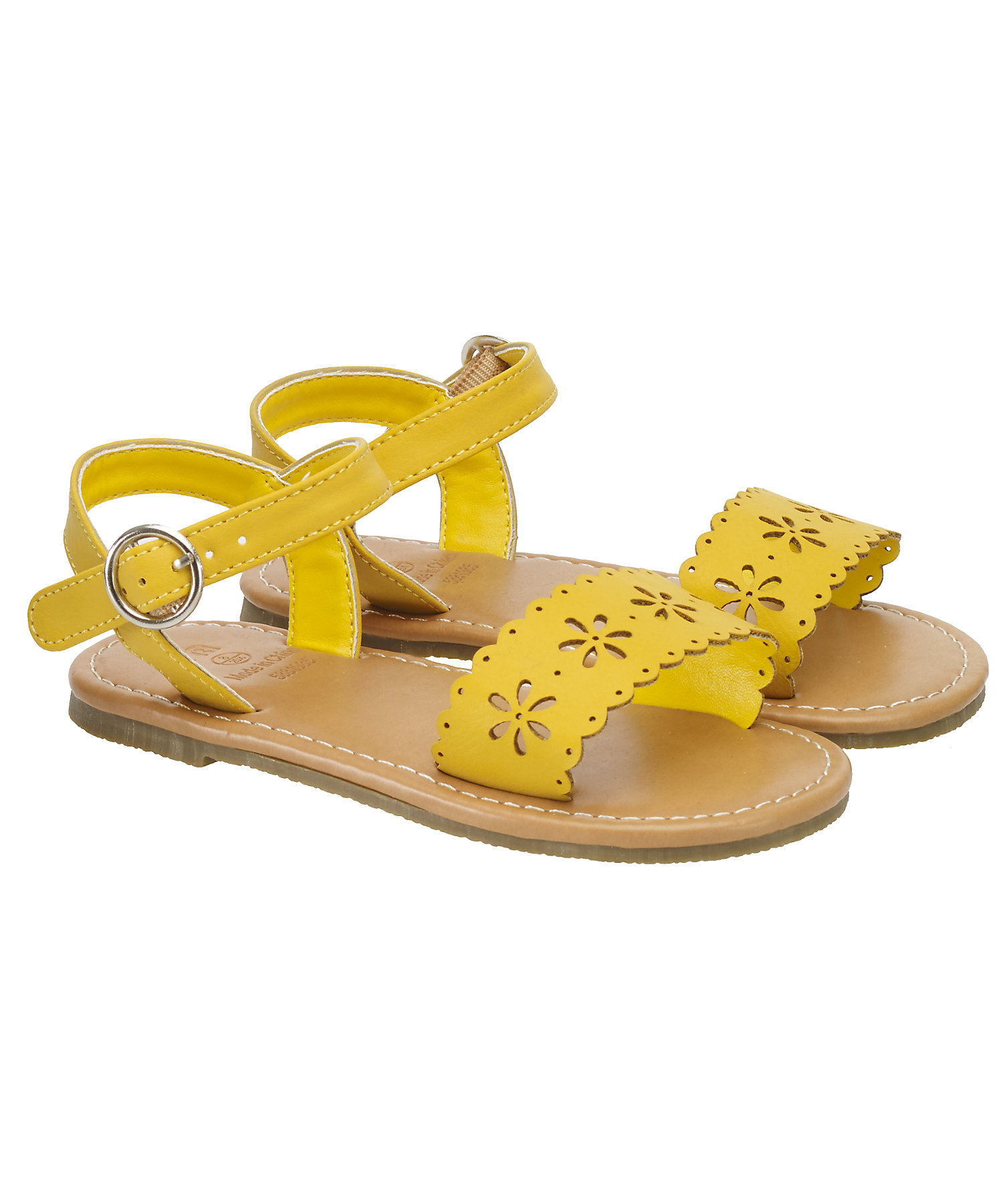 Mothercare | Girls Sandals Cut Out Design - Yellow