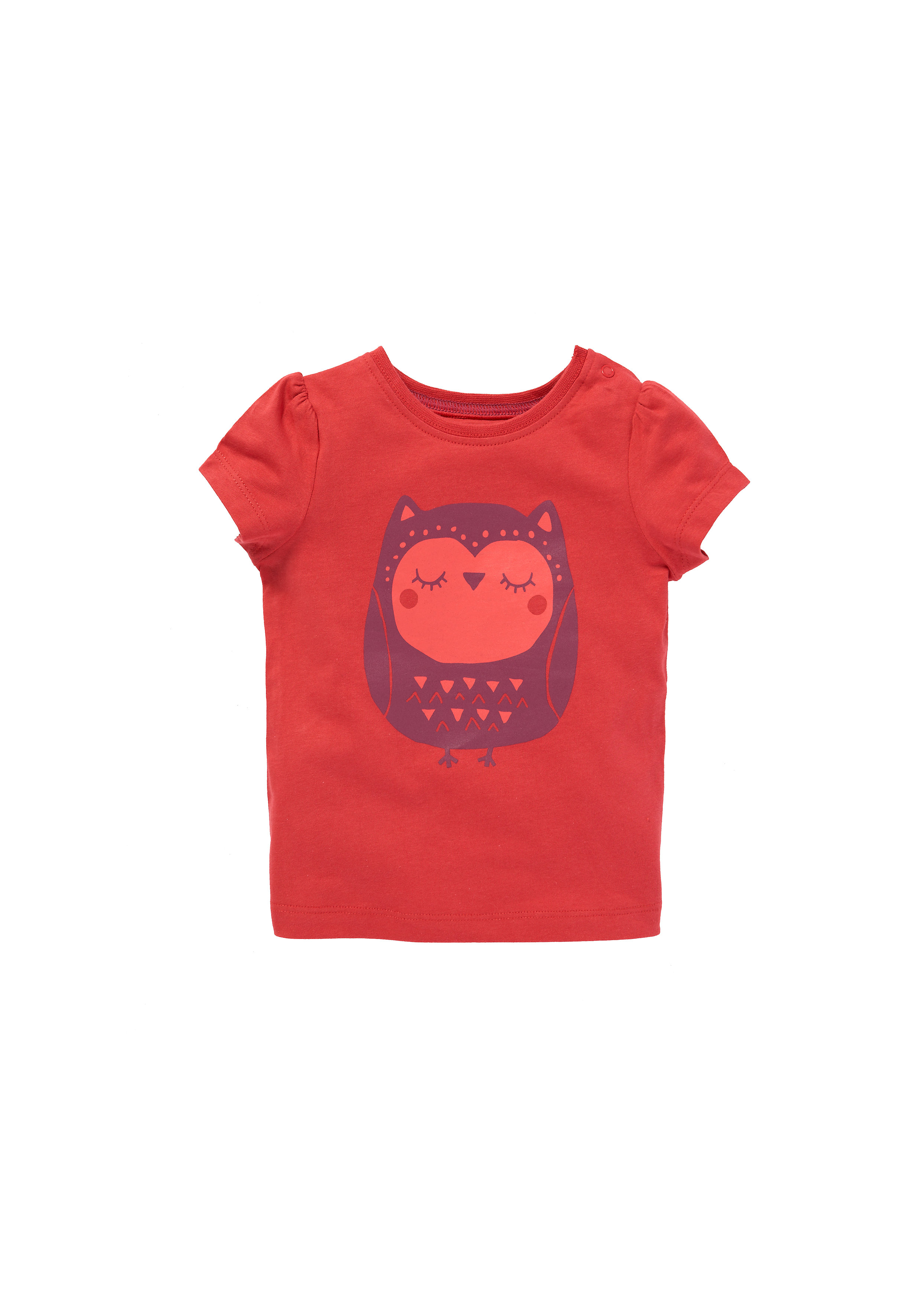 Mothercare | Girls Short Sleeves Owl T-Shirt