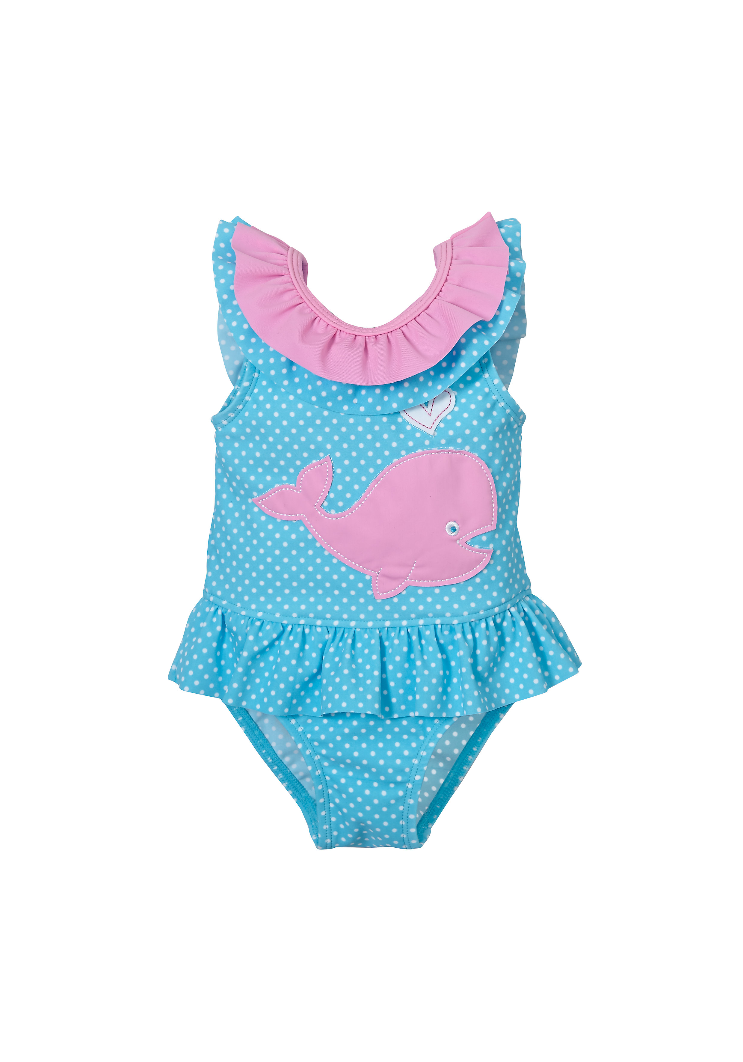 Mothercare | Blue Girls Whale Swimsuit